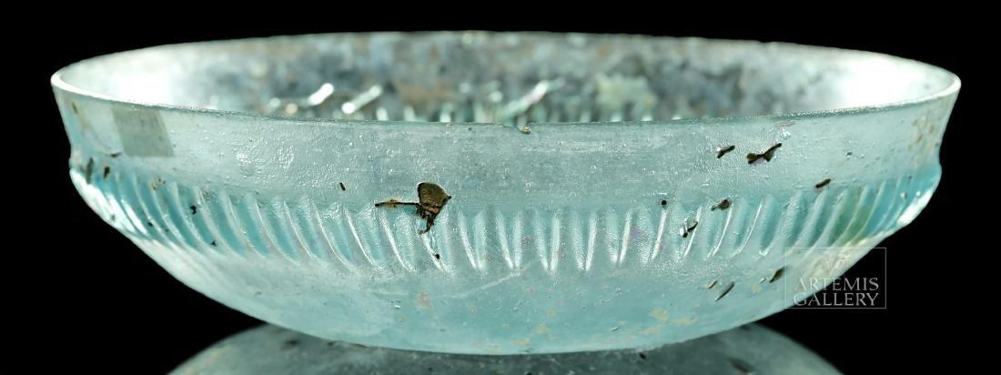 Roman Glass Pillar-Molded Dish - 2