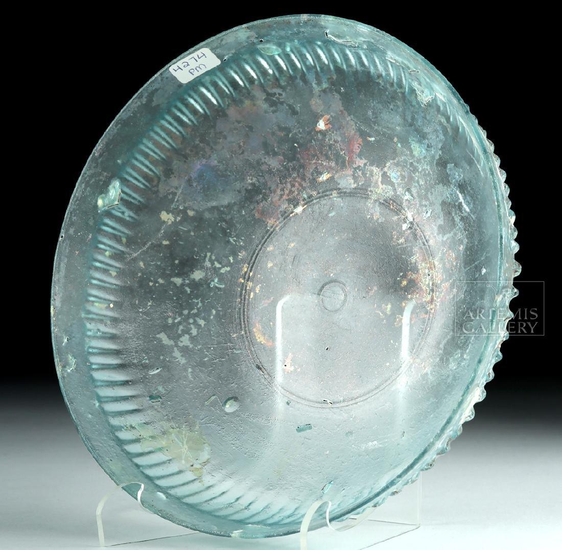 Roman Glass Pillar-Molded Dish - 5