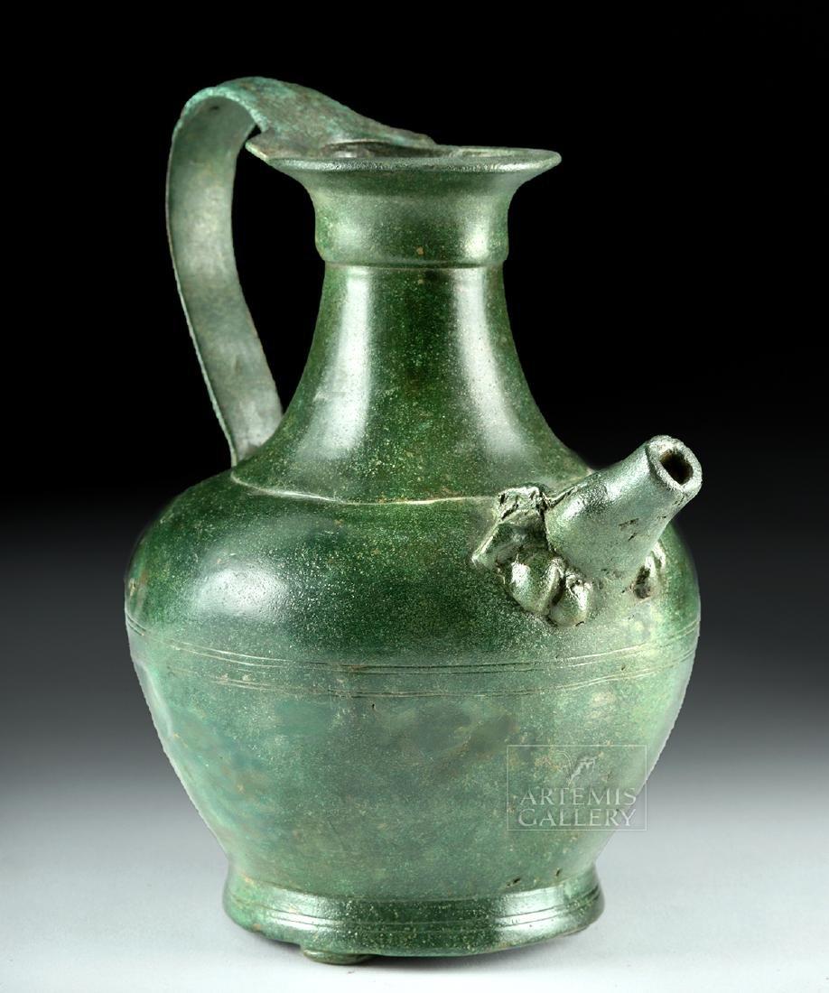 Stunning Roman Bronze Spouted Pitcher