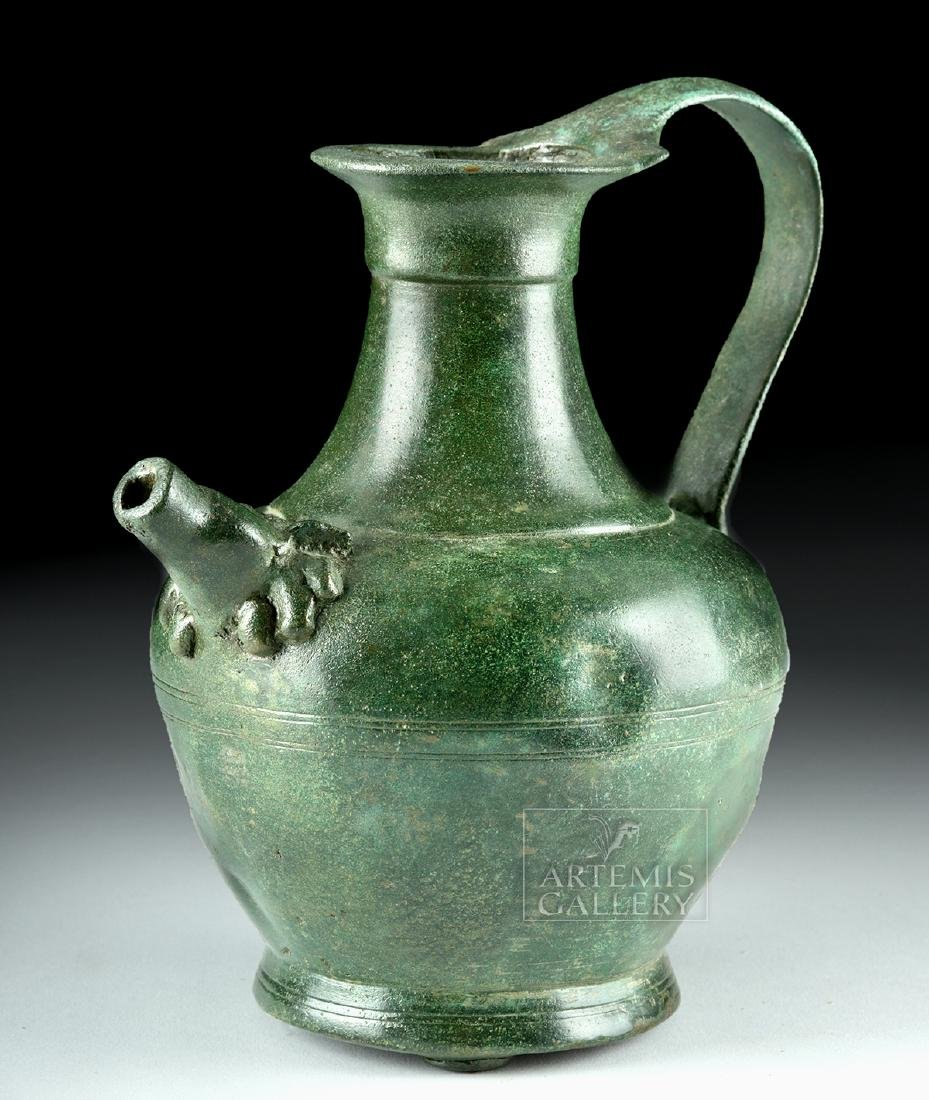 Stunning Roman Bronze Spouted Pitcher - 2