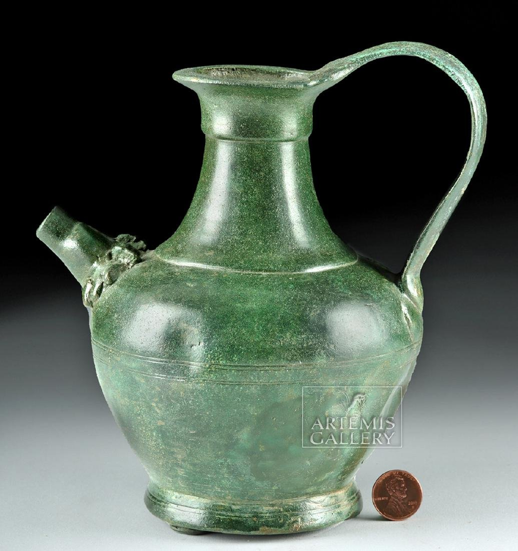 Stunning Roman Bronze Spouted Pitcher - 3