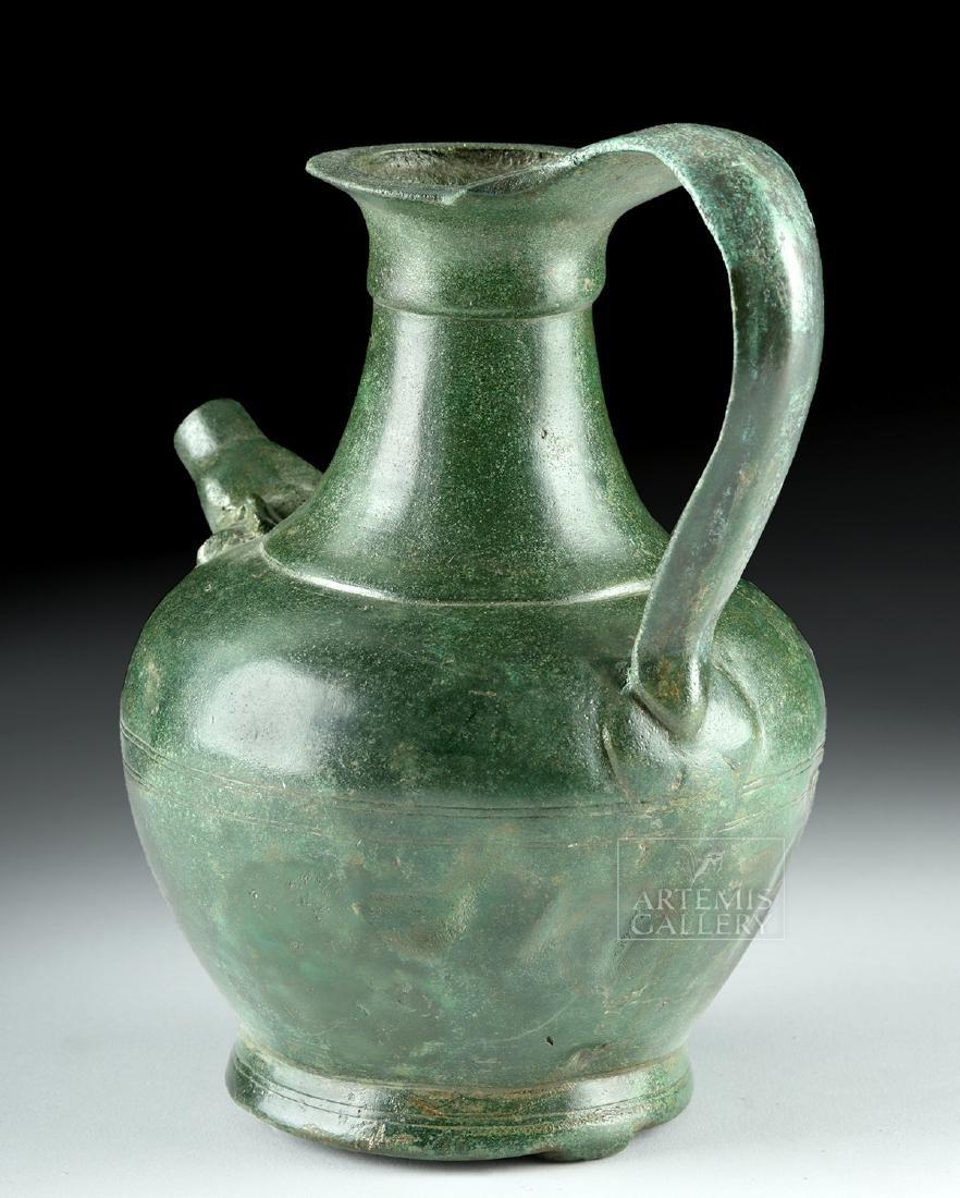 Stunning Roman Bronze Spouted Pitcher - 4