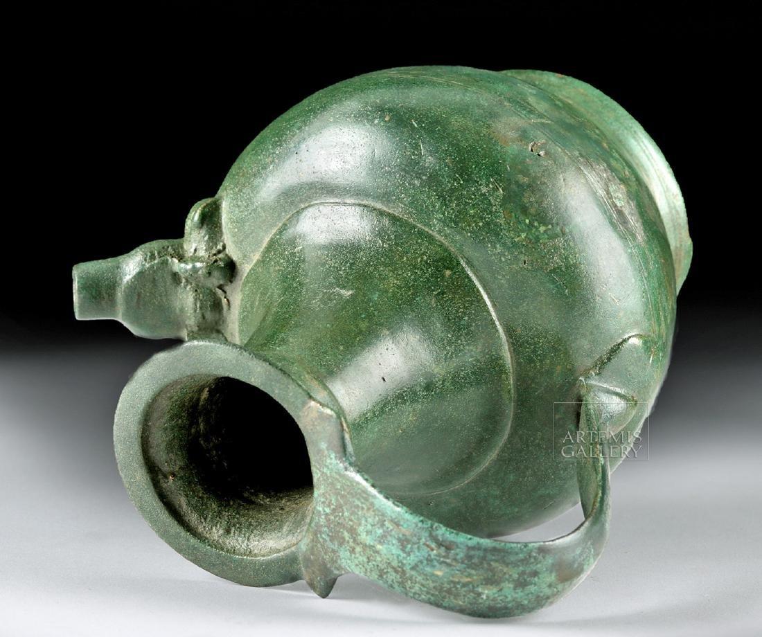 Stunning Roman Bronze Spouted Pitcher - 5