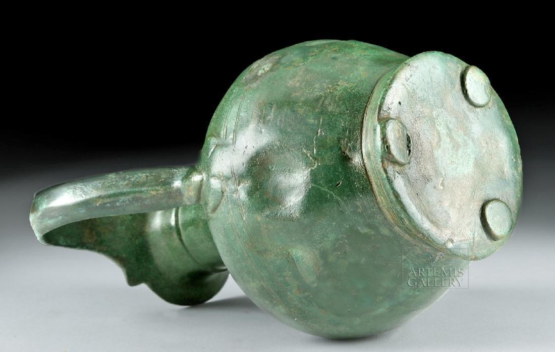 Stunning Roman Bronze Spouted Pitcher - 6