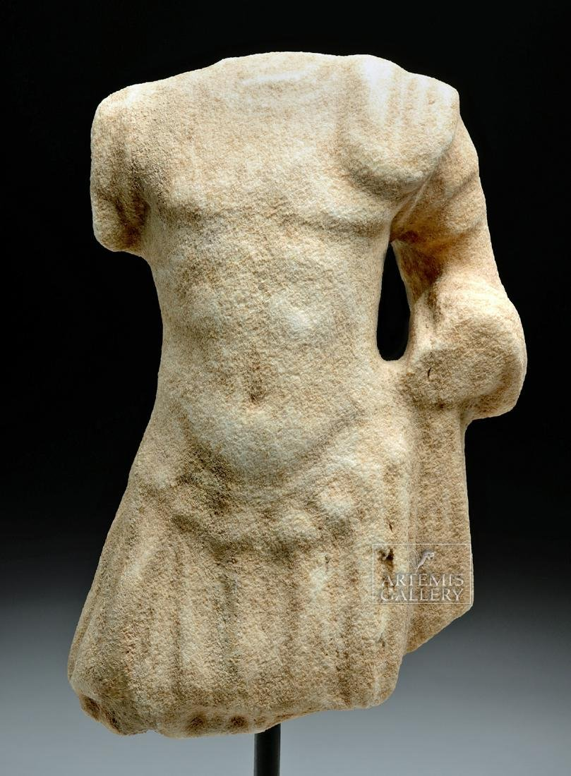 Roman Marble Torso of Mars in Military Attire