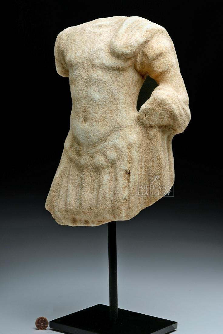 Roman Marble Torso of Mars in Military Attire - 2