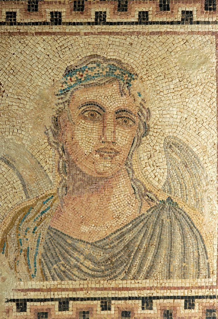 Ancient Roman Mosaic with Winged Cupid / Erote - 2