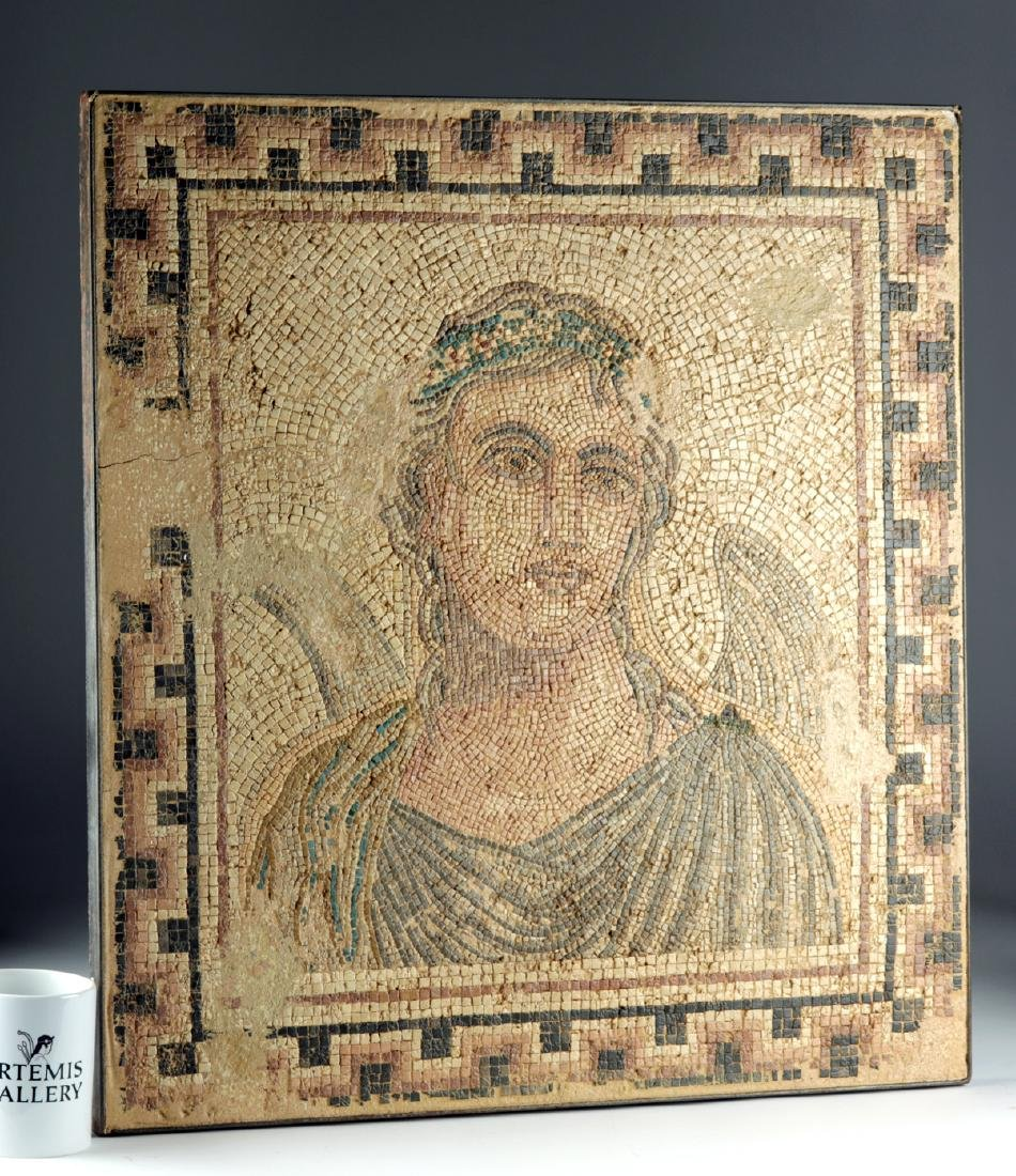 Ancient Roman Mosaic with Winged Cupid / Erote - 3