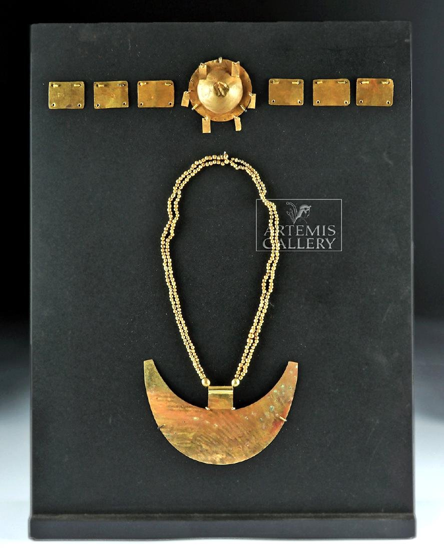 Chavin 18K+ Gold Crown & Necklace for a Lord-King