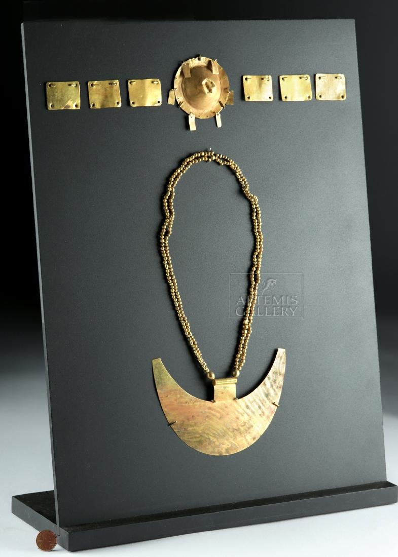 Chavin 18K+ Gold Crown & Necklace for a Lord-King - 3