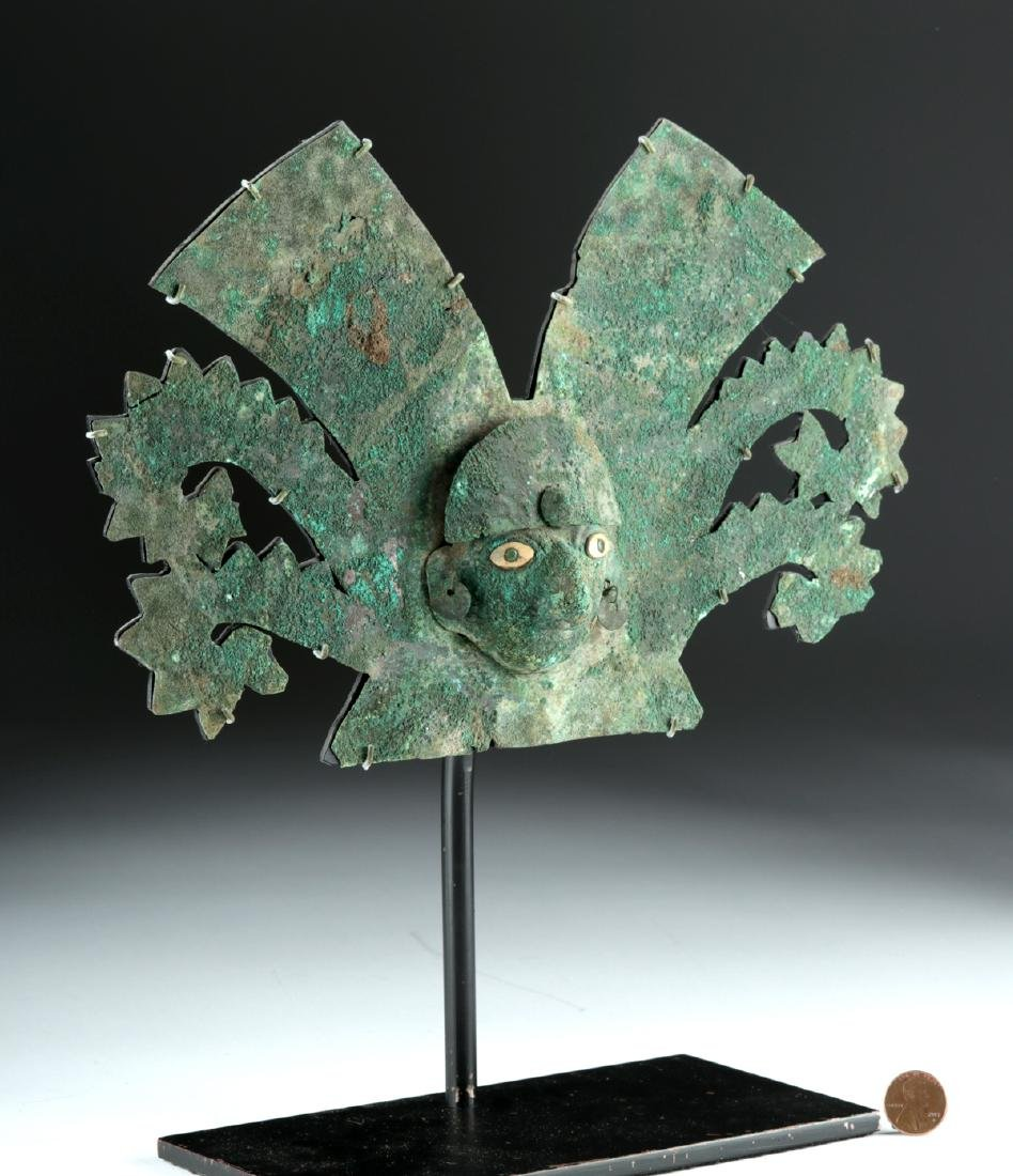 Important Moche Copper Headdress - Shell Eyes - 2