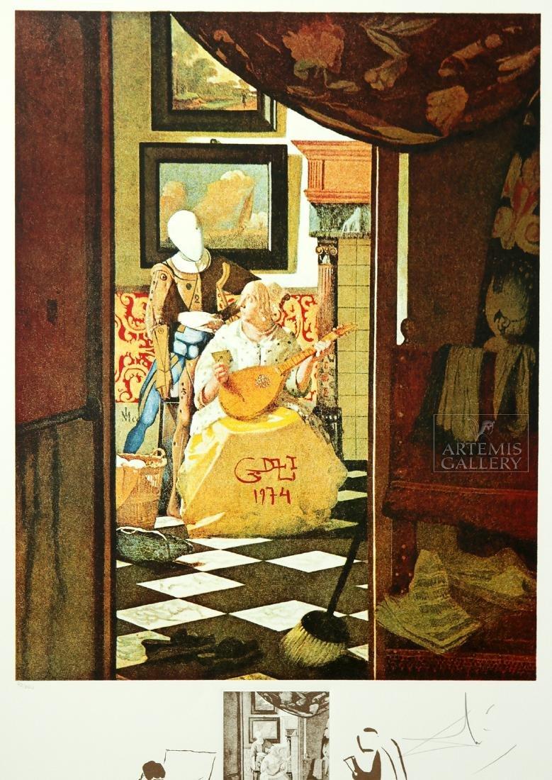 """Signed Dali Lithograph """"Vermeer de Delft..."""" - 1974 - 2"""