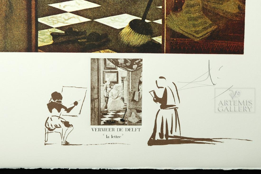 """Signed Dali Lithograph """"Vermeer de Delft..."""" - 1974 - 3"""