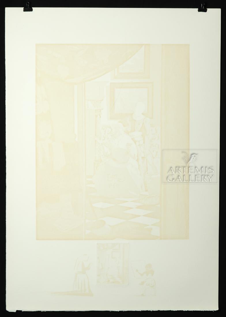 """Signed Dali Lithograph """"Vermeer de Delft..."""" - 1974 - 4"""