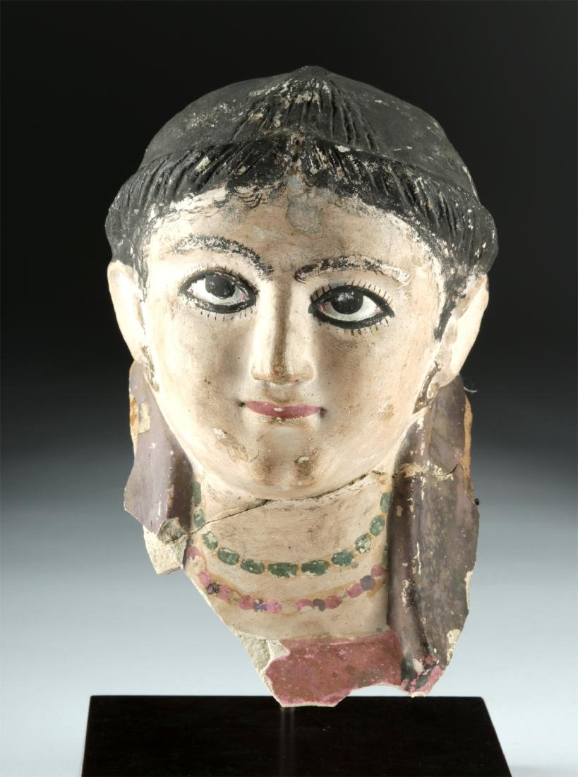 Romano-Egyptian Plaster Head of a Woman, ex-Sotheby's