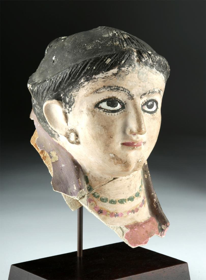 Romano-Egyptian Plaster Head of a Woman, ex-Sotheby's - 2