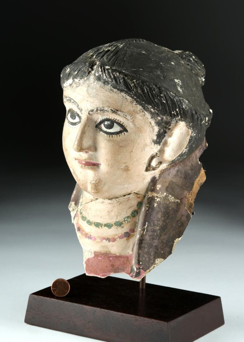 Romano-Egyptian Plaster Head of a Woman, ex-Sotheby's - 3