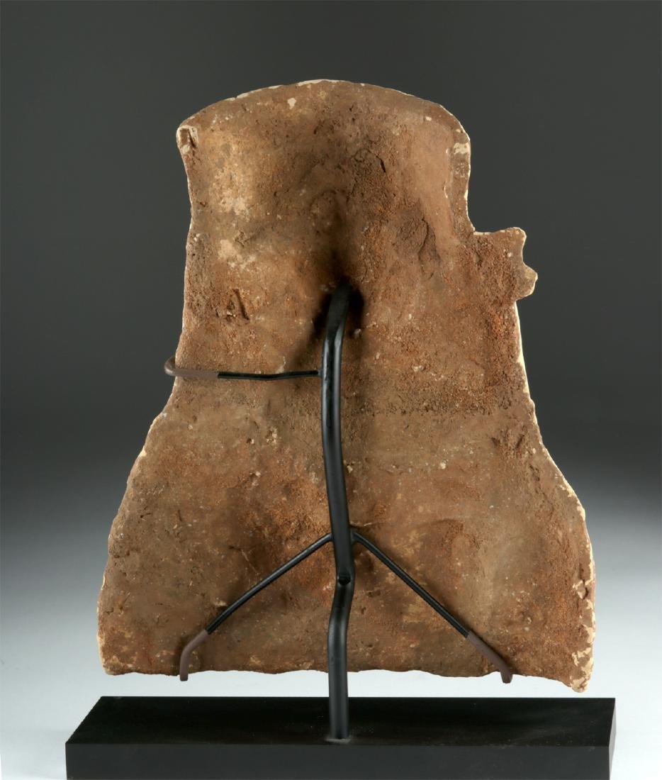 Large Greek Terracotta Protome of Circe & Pig - 4