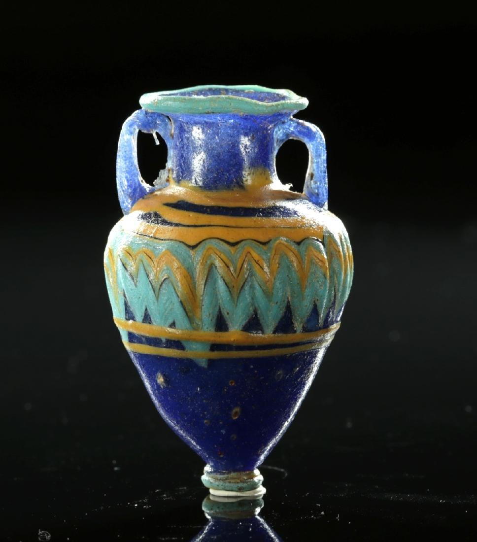 Stunning Greek Core-Formed Glass Amphoriskos