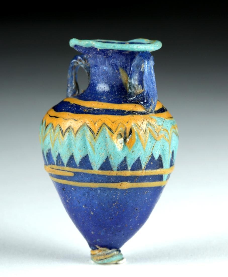 Stunning Greek Core-Formed Glass Amphoriskos - 4