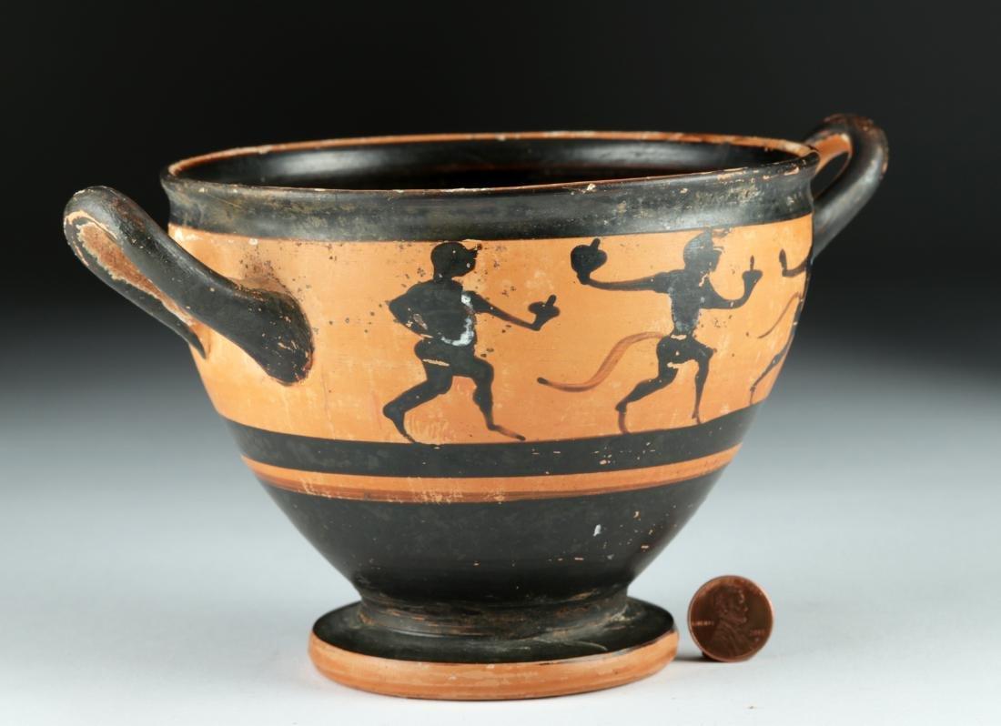 Published Greek Attic Black-Figure Skyphos – Satyrs - 2