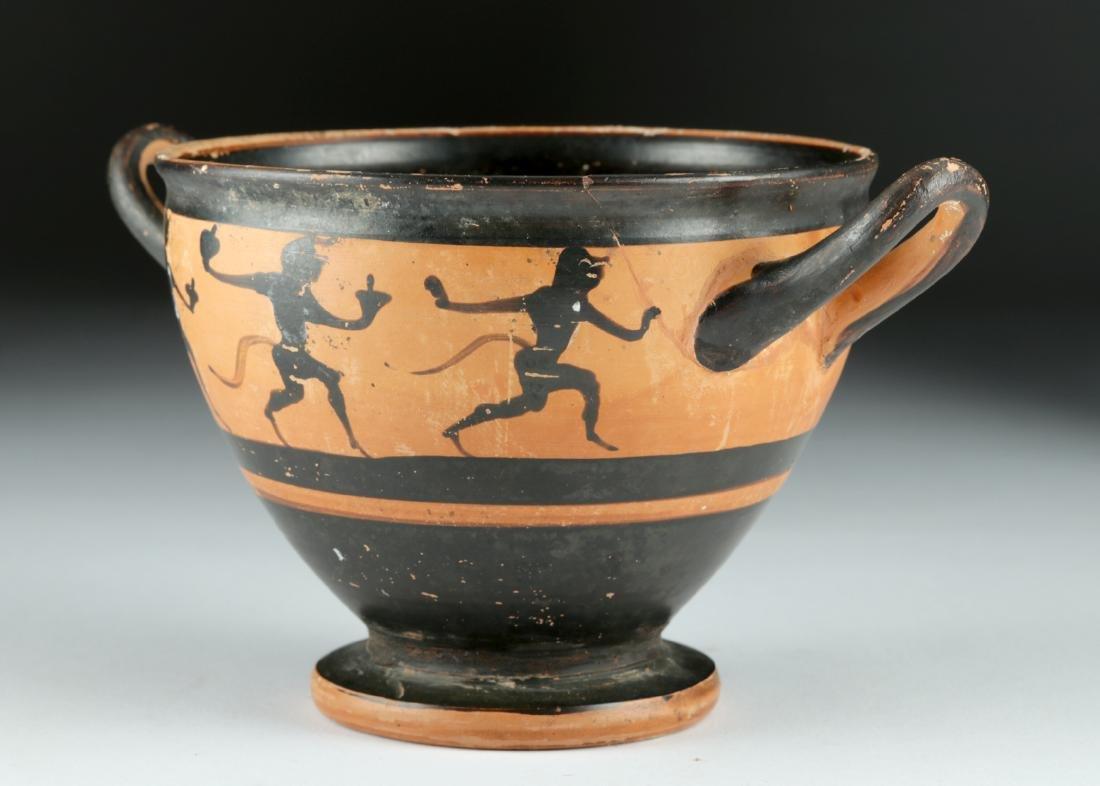 Published Greek Attic Black-Figure Skyphos – Satyrs - 3
