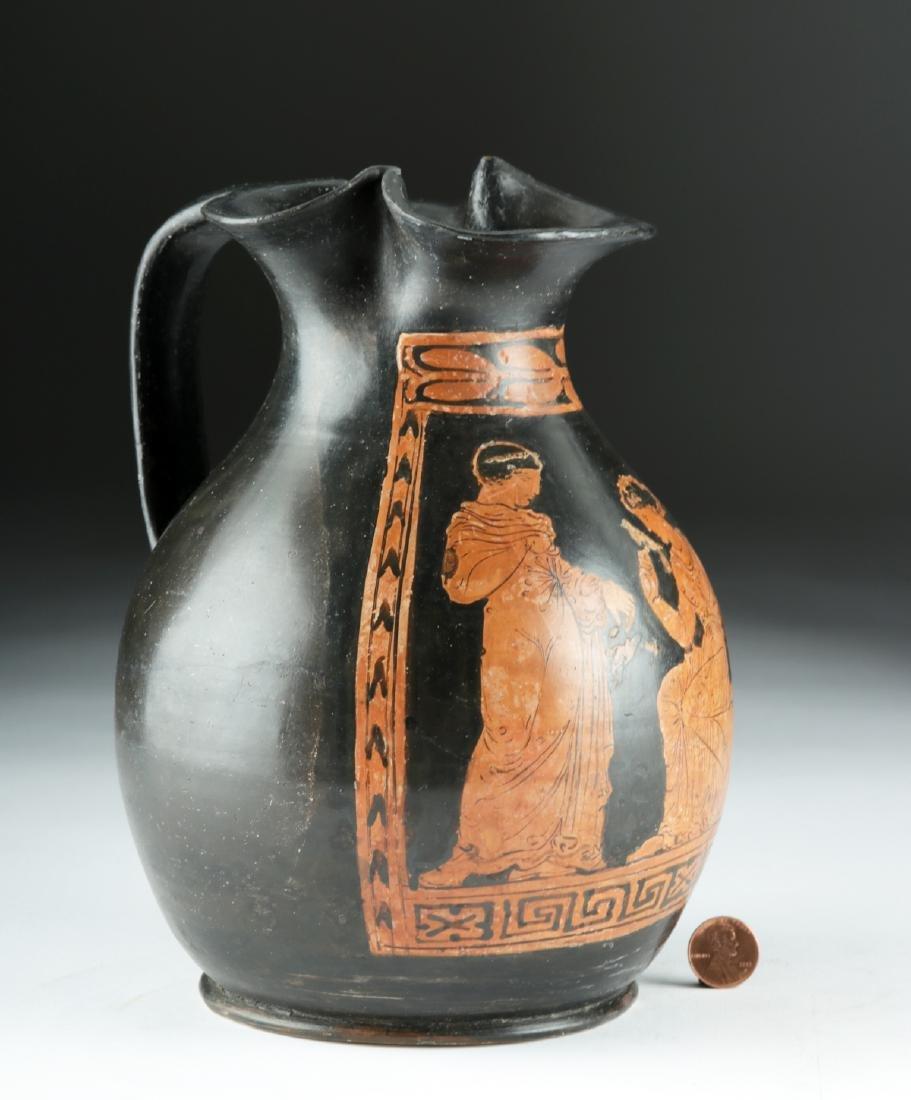 Greek Apulian Red-Figure Trefoil Oinochoe - 2