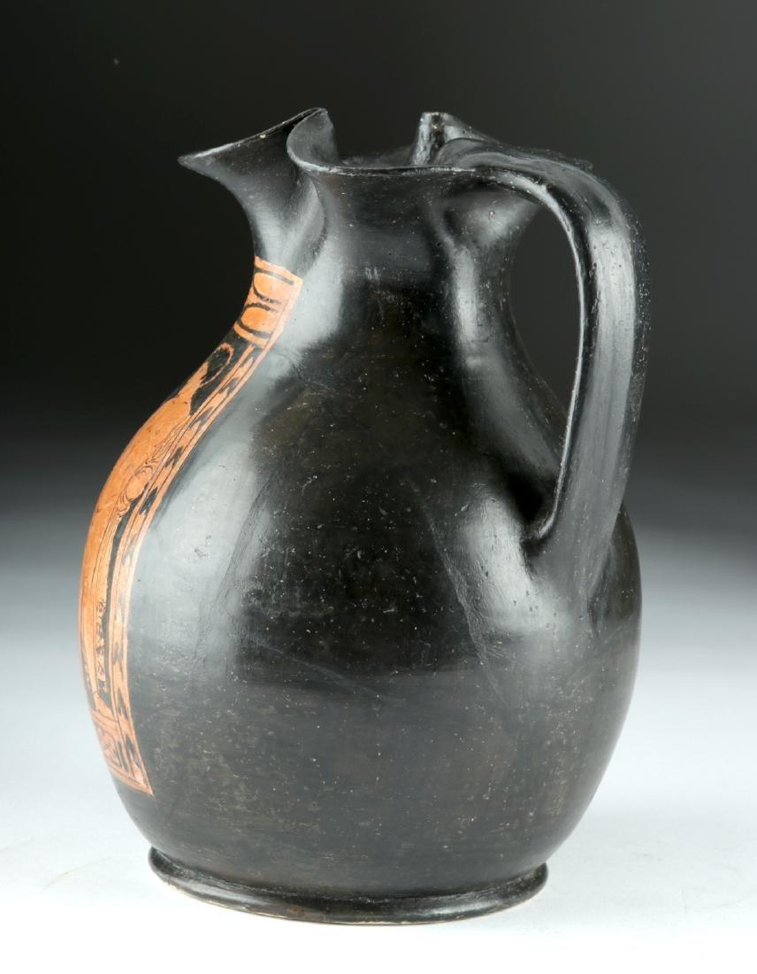 Greek Apulian Red-Figure Trefoil Oinochoe - 4