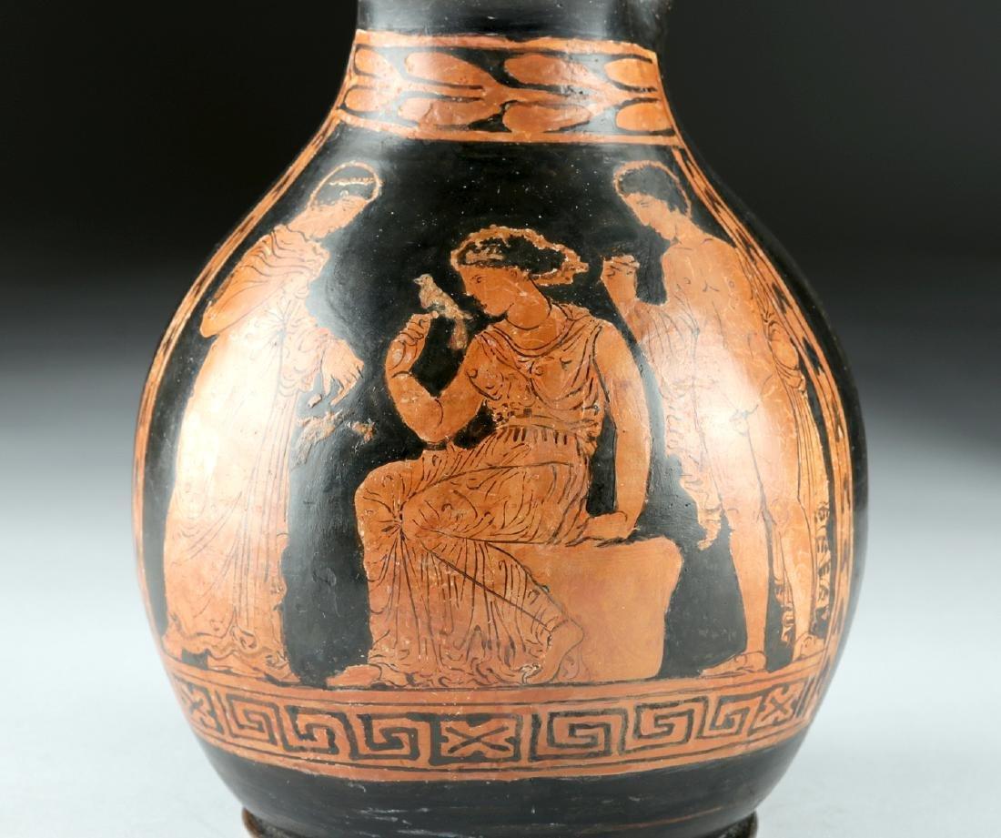 Greek Apulian Red-Figure Trefoil Oinochoe - 7