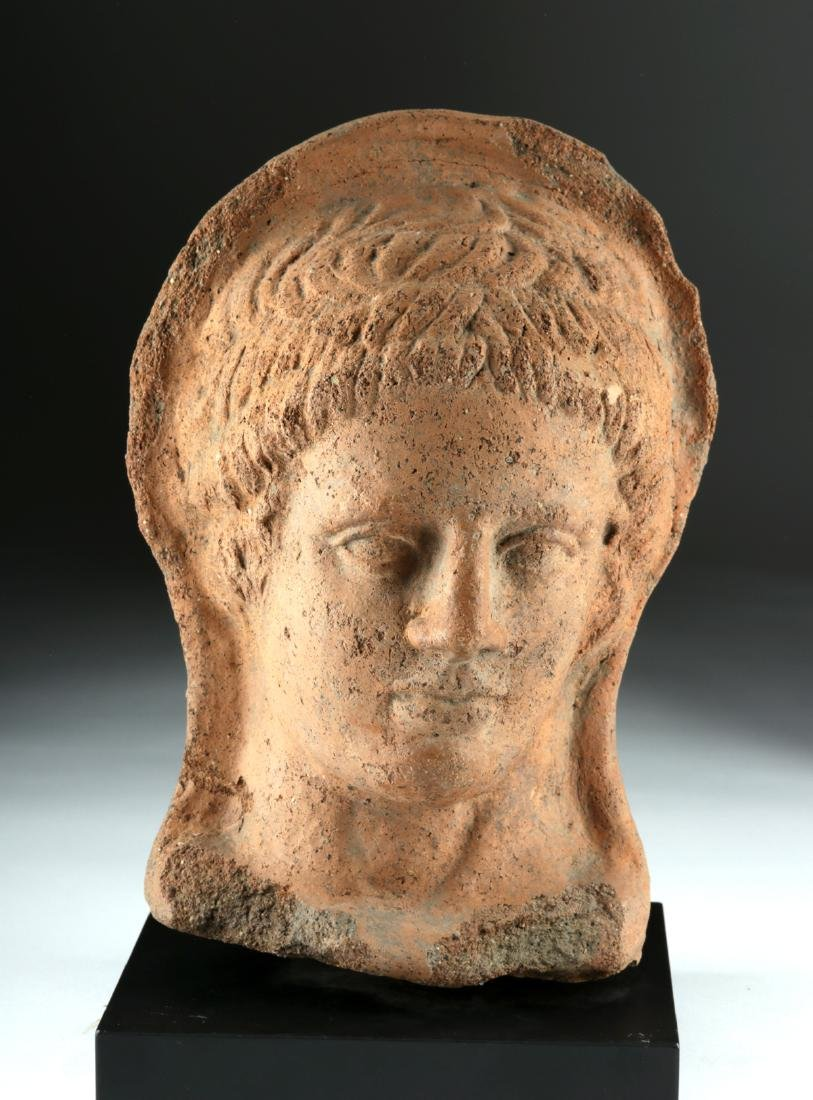 Etruscan Terracotta Head of a Woman
