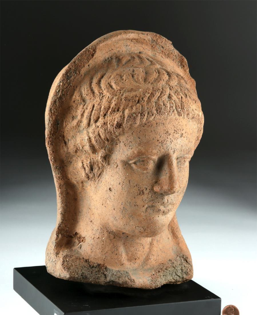 Etruscan Terracotta Head of a Woman - 2