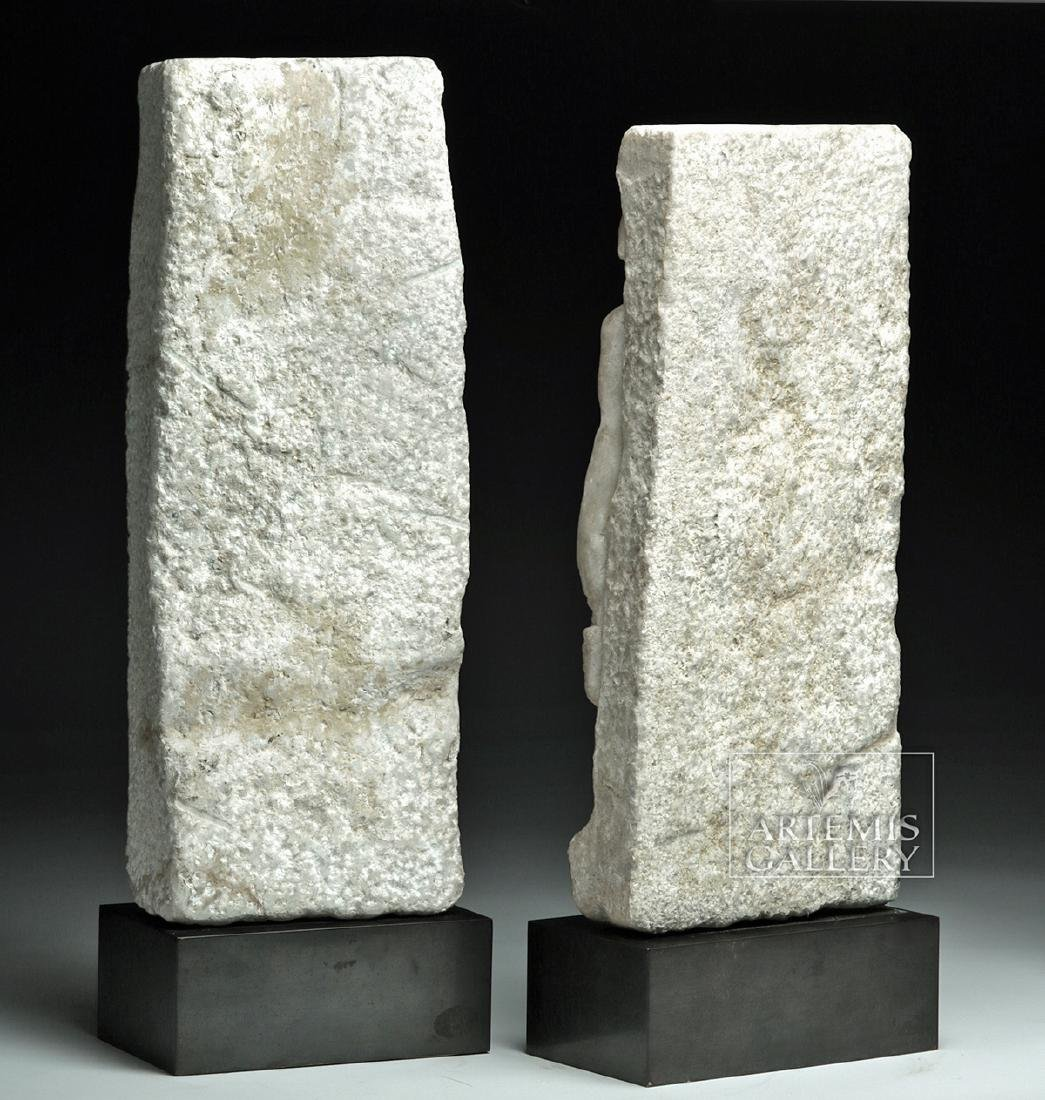Lot of 2 Roman Marble Sarcophagus Panels - Matched Pair - 4