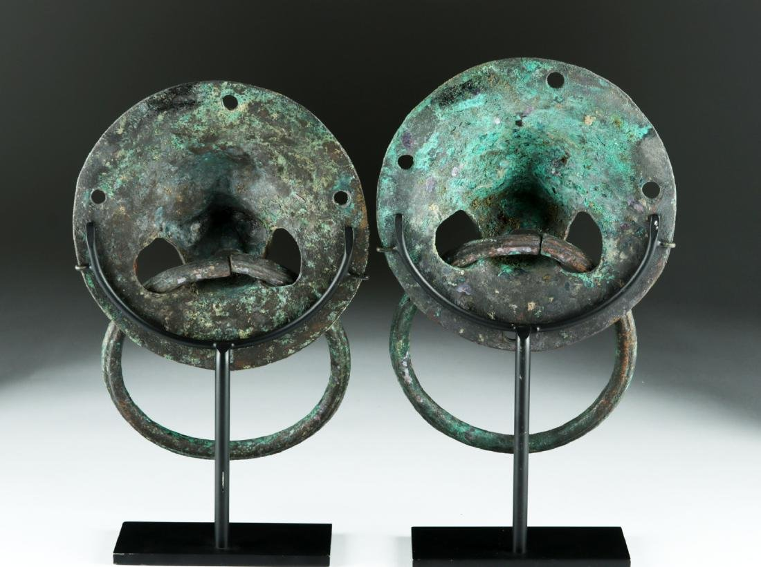 Matched Pair of Roman Copper Lion-Headed Handles - 4