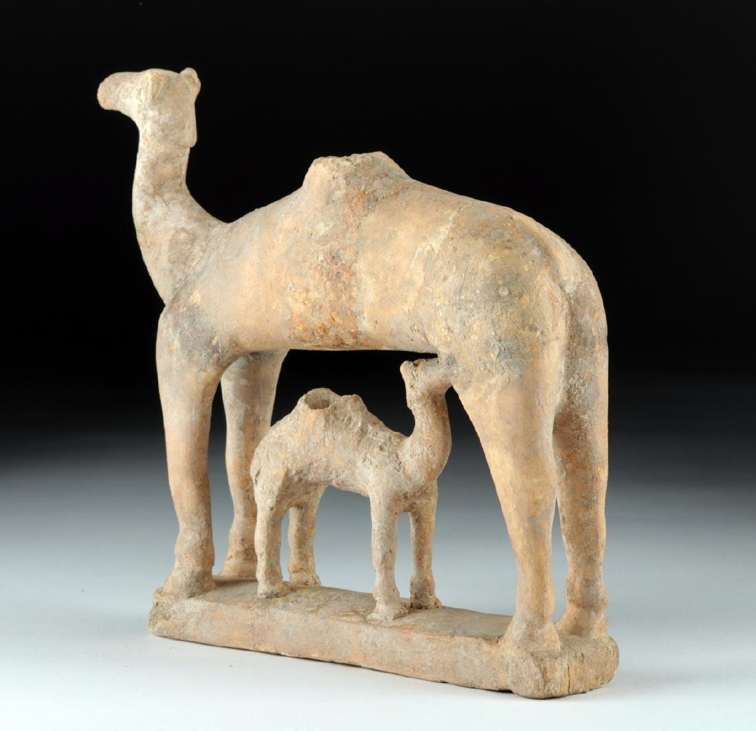 Rare S. Arabian Terracotta Camel and Baby - 3