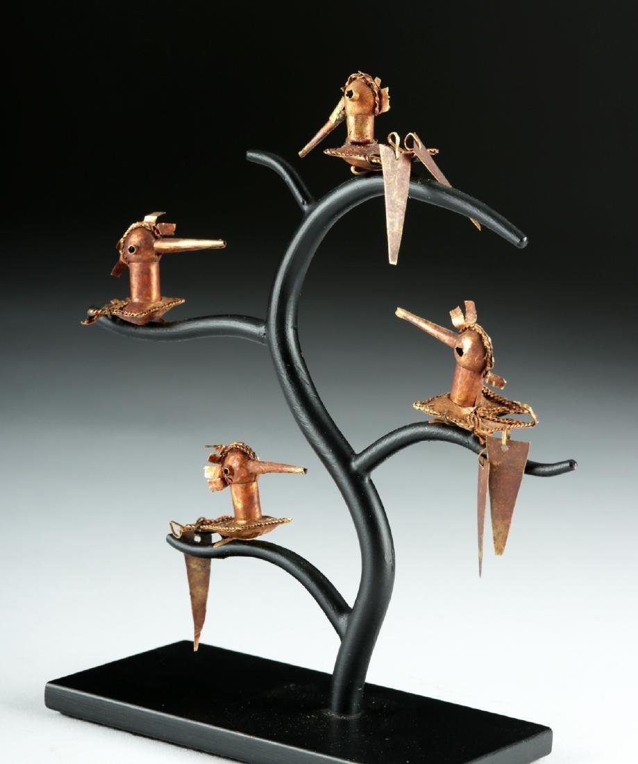 Lot of 4 Frias 18K Gold Hummingbirds - 3