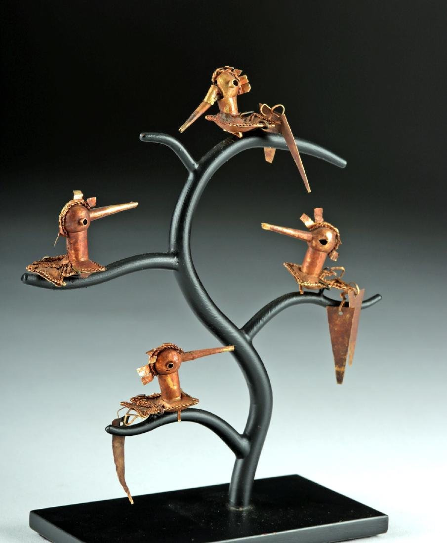 Lot of 4 Frias 18K Gold Hummingbirds - 4