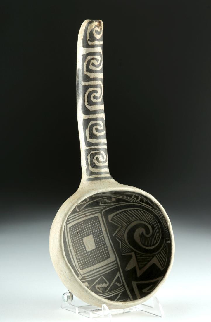 Anasazi Tularosa Pottery Black-on-White Ladle - 2