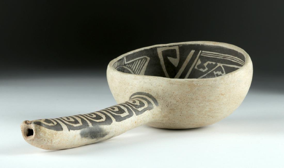Anasazi Tularosa Pottery Black-on-White Ladle - 4
