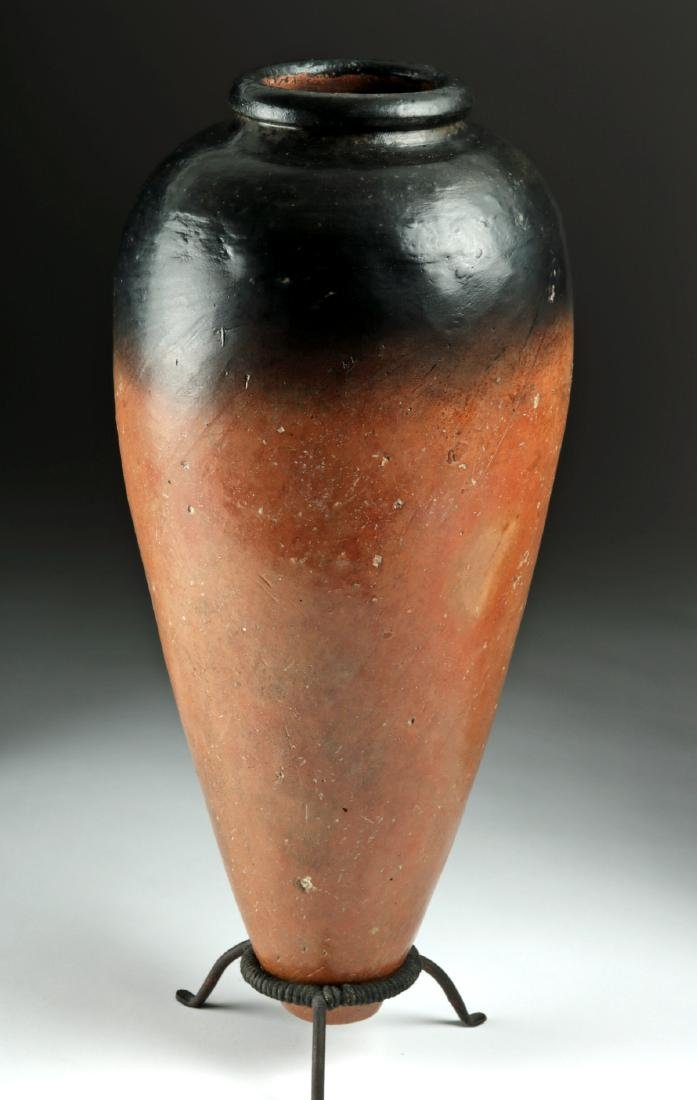 Huge Egyptian Predynastic Black-Top Pottery Jar w/ TL - 2