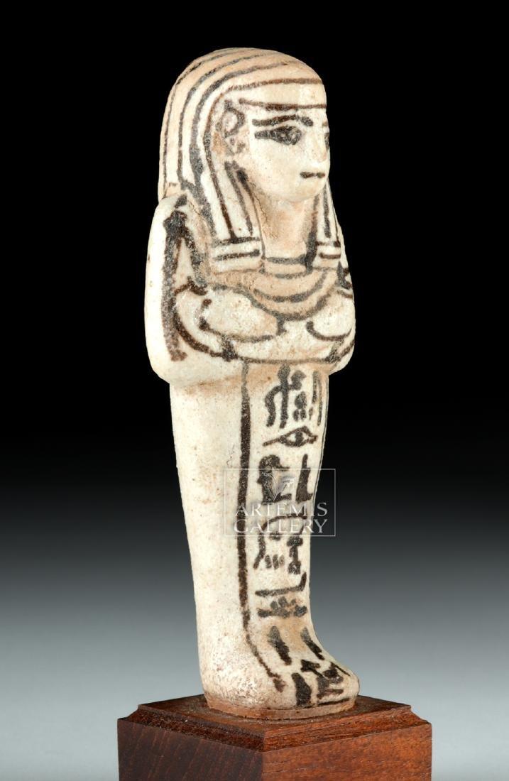 Egyptian New Kingdom White Faience Overseer Ushabti - 2