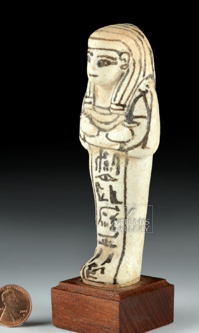 Egyptian New Kingdom White Faience Overseer Ushabti - 3