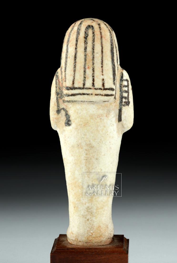 Egyptian New Kingdom White Faience Overseer Ushabti - 4