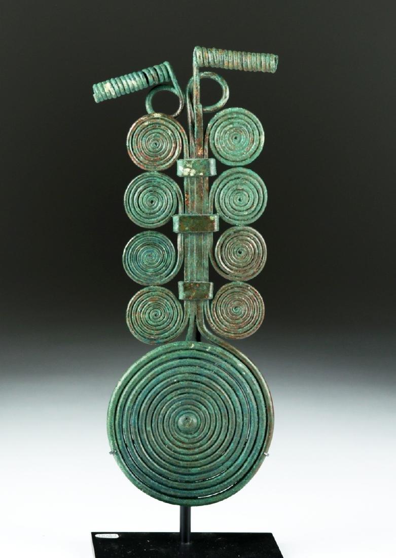 Massive Bronze Age Spiral Fibula & Matching Pin
