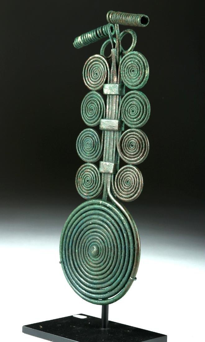 Massive Bronze Age Spiral Fibula & Matching Pin - 2