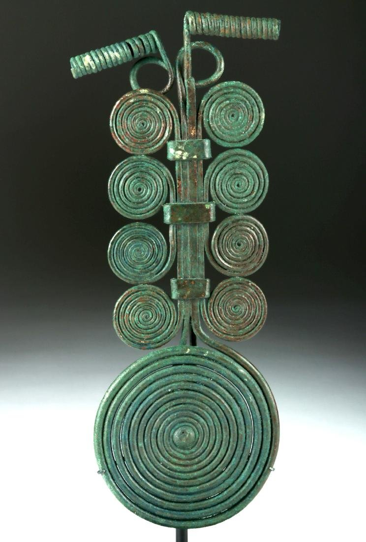 Massive Bronze Age Spiral Fibula & Matching Pin - 3