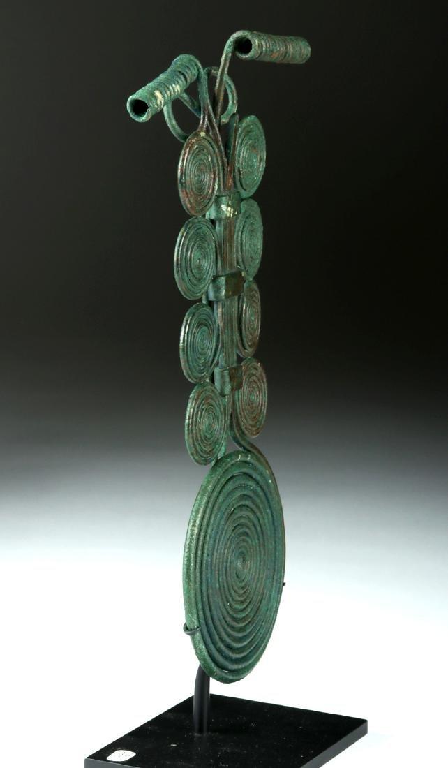 Massive Bronze Age Spiral Fibula & Matching Pin - 4