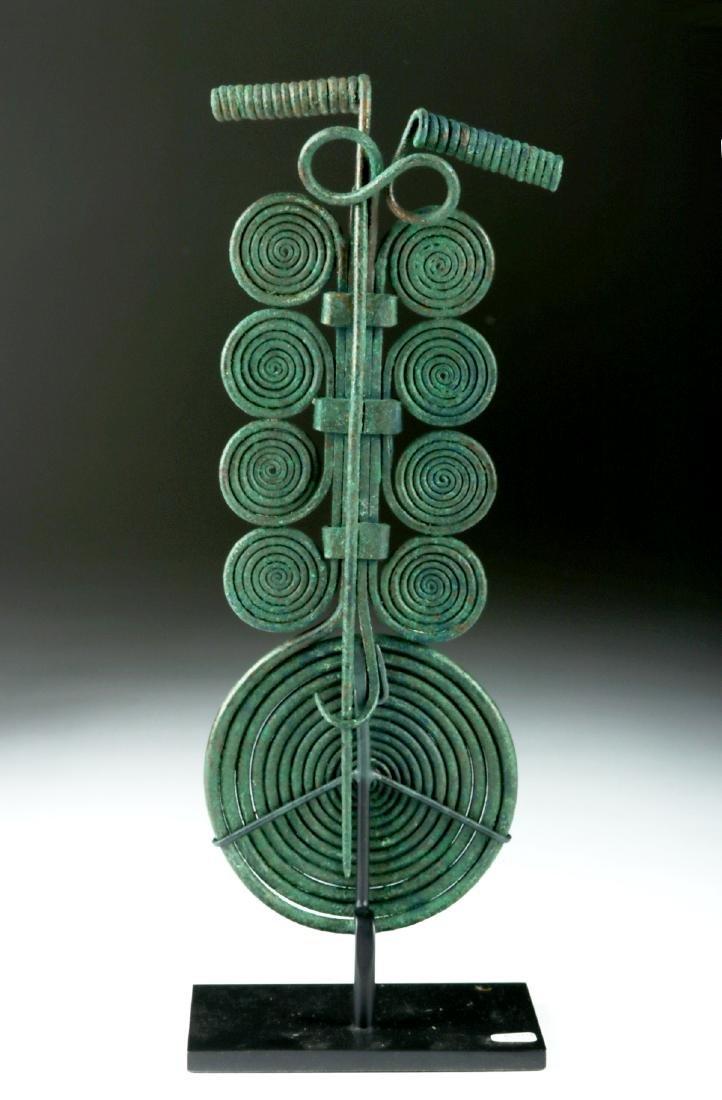 Massive Bronze Age Spiral Fibula & Matching Pin - 5
