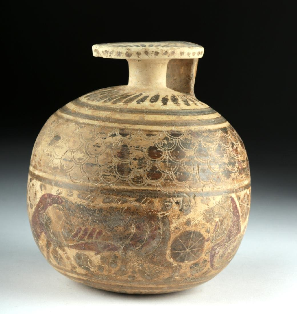 Published Large / Early Corinthian Polychrome Aryballos