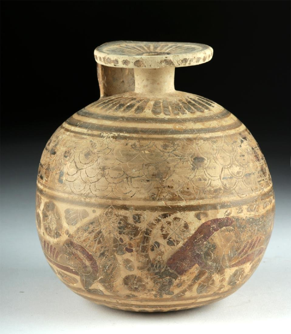 Published Large / Early Corinthian Polychrome Aryballos - 2