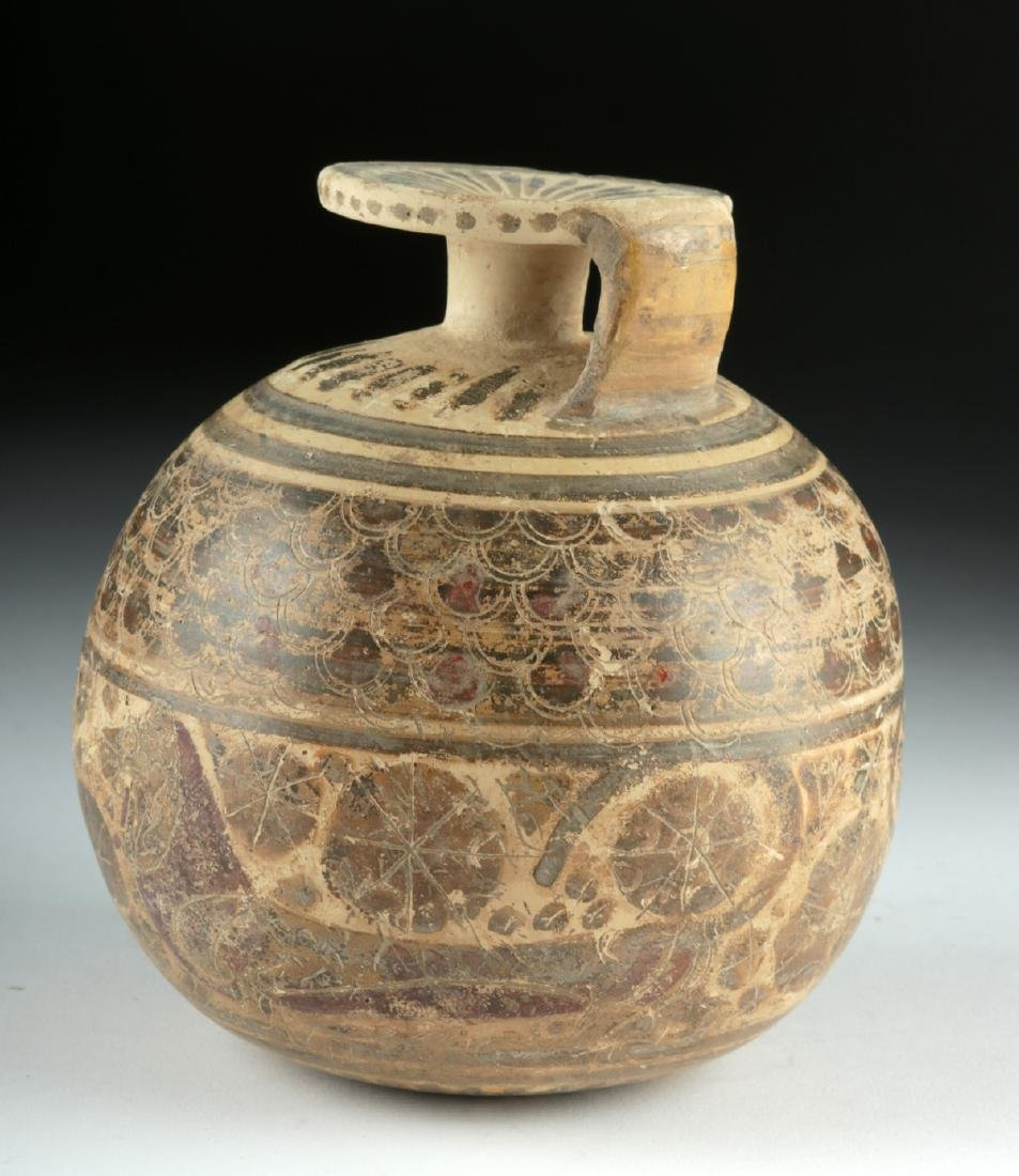 Published Large / Early Corinthian Polychrome Aryballos - 3